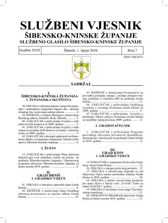 07/10 - Šibensko-kninska županija