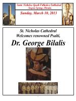 Dr. George Bilalis - St Nicholas Greek Orthodox Cathedral