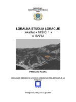 LOKALNA STUDIJA LOKACIJE lokalitet « MIŠIĆI 1 » u BARU