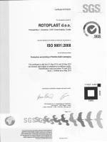 ISO 9001:2008 Proizvodnja i tisak plastične fleksibilne