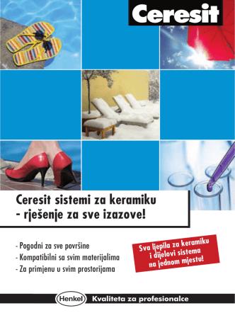 Ceresit sistemi za keramiku - rješenje za sve izazove!