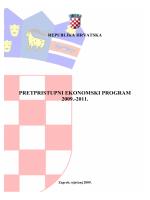 Pretpristupni ekonomski program 2009-2011