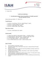 Sažetak zapisnika s 1. sjednice ZO za kemijske opasnosti