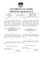 """""""Službeni glasnik opštine Derventa"""", broj: 6/14"""
