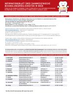 InformatIonsblatt über zahnmedIzInIsche behandlungsmöglIchkeIten
