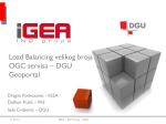 Load Balancing velikog broja OGC servisa – DGU Geoportal
