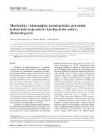 Morfološke i biohemijske karakteristike prirodnih izolata bakterija
