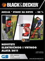 NOVITETI ELEKTRIčNOG I VRTNOG ALATA 2011
