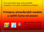 Primjena atmosferskih modela u zaštiti šuma od požara Ivana