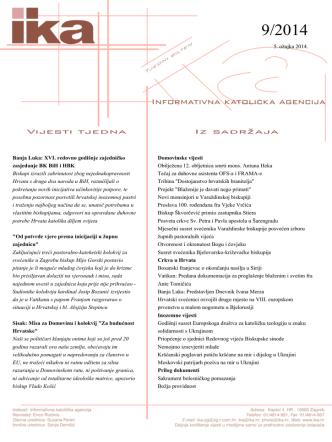 5. ožujka 2014. Banja Luka: XVI. redovno godišnje zajedničko