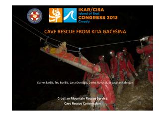 06-Cave Rescue in KG 2012 - IKAR-CISA