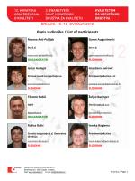 Popis sudionika / List of participants