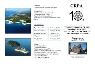 10 th Symposium of CRPA - FIrst Circular