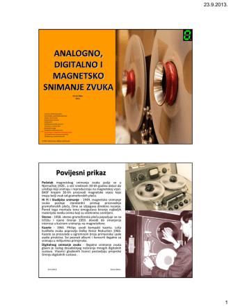 11 analogno digitalno i magnetsko snimanje zvuka