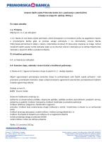 Izmjene Općih uvjeta Primorske banke d.d. u