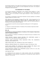 Amendment of the agenda GA 2013 - announcement
