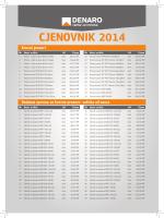 CJENOVNIK 2014