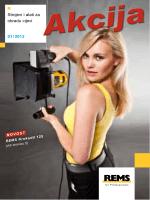 Strojevi i alati za obradu cijevi 01 / 2013