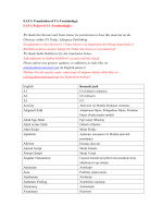 EATA Translation of TA Terminology: EATA Prijevod TA