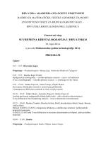 program skupa - Hrvatska akademija znanosti i umjetnosti