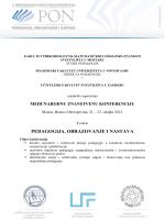 hrvatsko pedagogijsko društvo - Filozofski fakultet u Novom Sadu