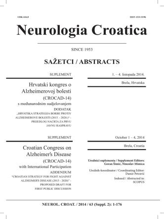 Book of abstracts - Otkrivanje i praćenje bioloških biljega radi rane