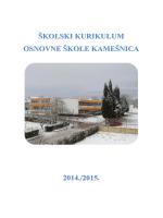 Školski kurikulum za šk. god. 2014.