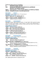 R RESPIRATORNI SISTEM R01 NAZALNI PREPARATI (LIJEKOVI