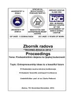 Zbornik radova ``TECHNO-EDUCA 2012.