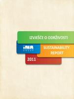 sustainability report izvješće o održivosti
