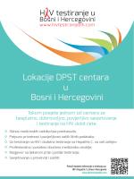 Lokacije DPST centara u Bosni i Hercegovini