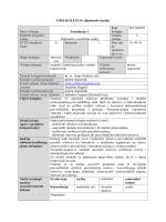 OPIS KOLEGIJA (diplomski studij) - Filozofski fakultet Sveučilišta u