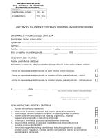 zahtjev za ovlaštenje centra za osposobljavanje strojovođa