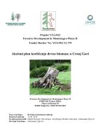 Akcioni plan koriscenja drvne biomase u Crnoj Gori Nacrt