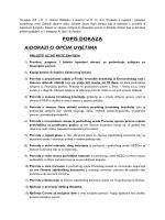 popis dokaza a) dokazi o općim uvjetima