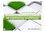 Novosti u legislativi o zaštiti od svjetlosnog onečišćenja Novosti u