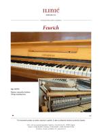Pianino Feurich - Ponuda rabljenih glazbala