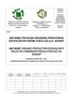 Pravilnik o organskoj proizvodnji - BeHaBIOCert