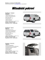 MITSUBISHI POKROVI – Katalog sa cijenama