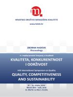 kvaliteta, konkurentnost i održivost