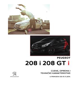 208 i 208 GT i 208 i 208 GT i