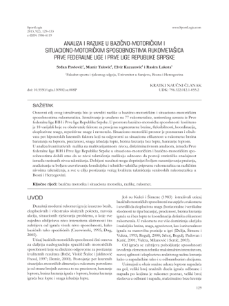 analiza i razlike u bazično-motoričkim i situaciono