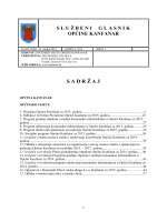 Službeni glasnik općine Kanfanar