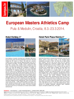 First Master Athletic Training Camp in Croatia March 2014 (PDF)