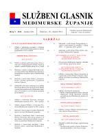 Odluku - Međimurska županija