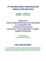 ISAF 2015 - www . fznh . ukim . edu . mk
