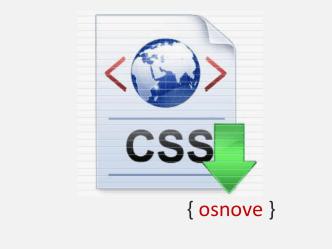 CSS – osnove