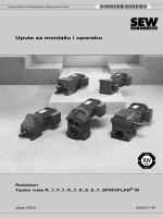 Upute za montažu i uporabu Reduktori Tipske vrste R..7, F..7, K..7, K