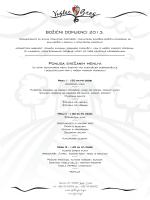 BOŽIĆNI DOMJENCI 2013. Ponuda svečanih menu-a