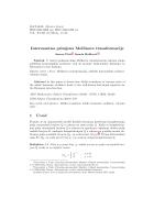 Interesantna primjena Mellinove transformacije 1 Uvod